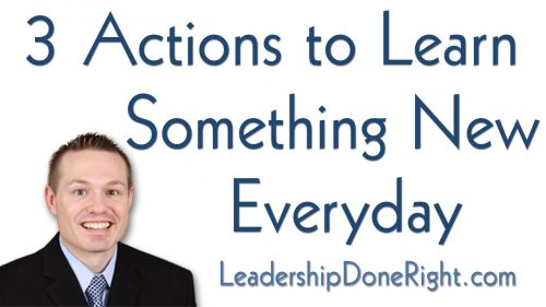 3 Actions to Learn Something New Everyday