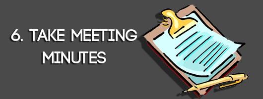 Take Meeting Minutes