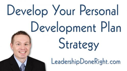 Develop Your Personal Development Plan Strategy
