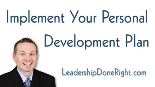 How To Implement Your Personal Development Plan